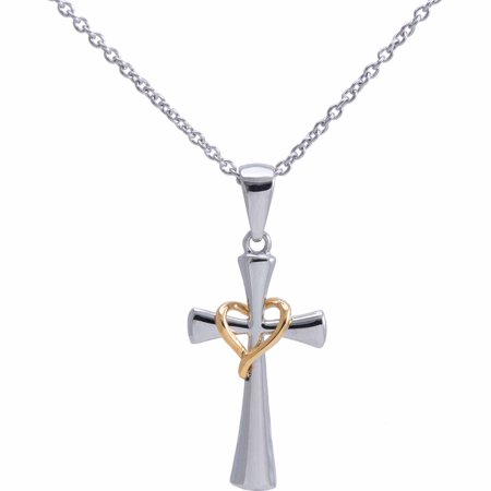 Connections From Hallmark Stainless Steel Cross Pendant