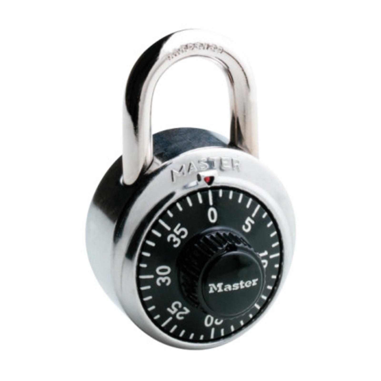 Master 20741430 Master Lock Dial Combination Lock, 1-7 8-Inch, Black by Master Lock