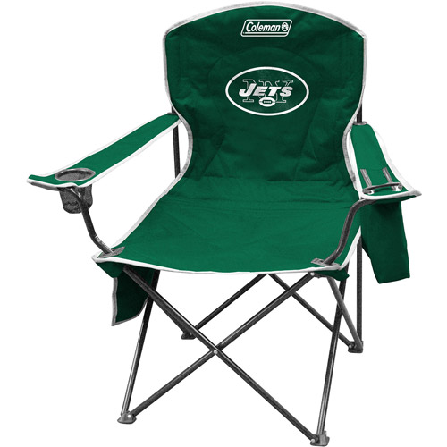 Coleman Quad Chair with 4- to 6-Can Cooler, New York Jets