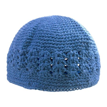One Size Fits All Stretchable Crochet Muslim Prayer Knit Kufi (Lace Front Weave Cap)