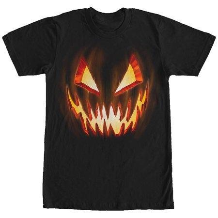 Lost Gods Halloween Evil Pumpkin Face Mens Graphic T Shirt - God And Halloween