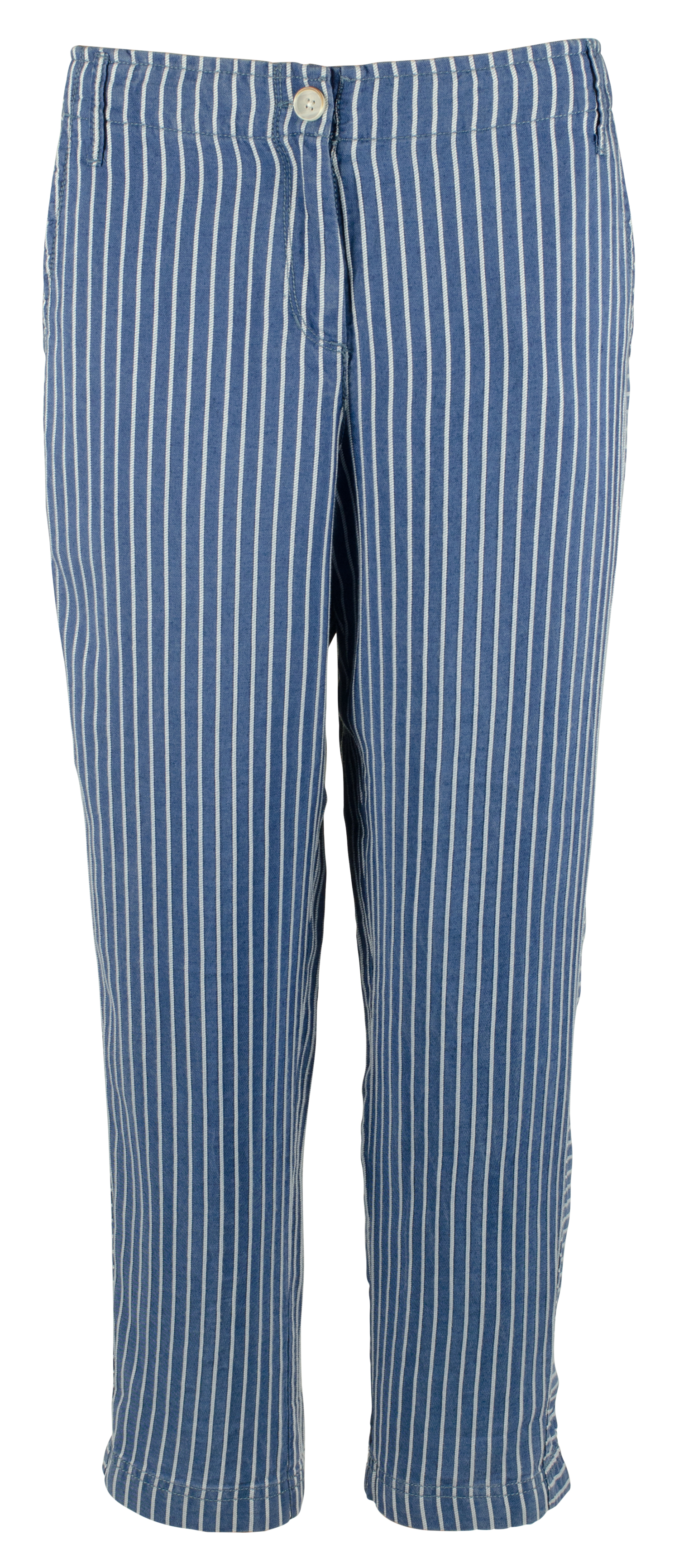 Style /& Co Womens Navy Comfort Waist Cropped Capri Pants Plus 24W BHFO 4734