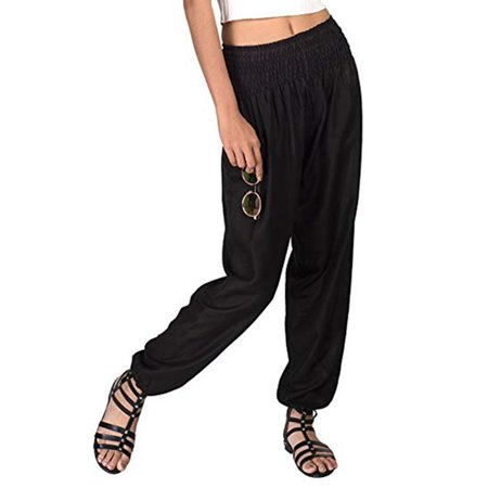 Women Causal Elastic High Waist Trousers Loose Yoga Bloomers Pants Plus Size - Plus Size Bloomers
