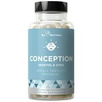 CONCEPTION Fertility Prenatal Vitamins - Regulate Your Cycle, Balance Hormones, Aid Ovulation - Myo-Inositol, Vitex, Folate Folic Acid - 60 Vegetarian Soft Capsules