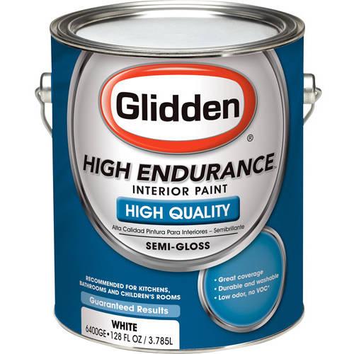 Glidden High Endurance Grab-N-Go, Interior Paint, Semi-Gloss Finish, White, 1 Gallon