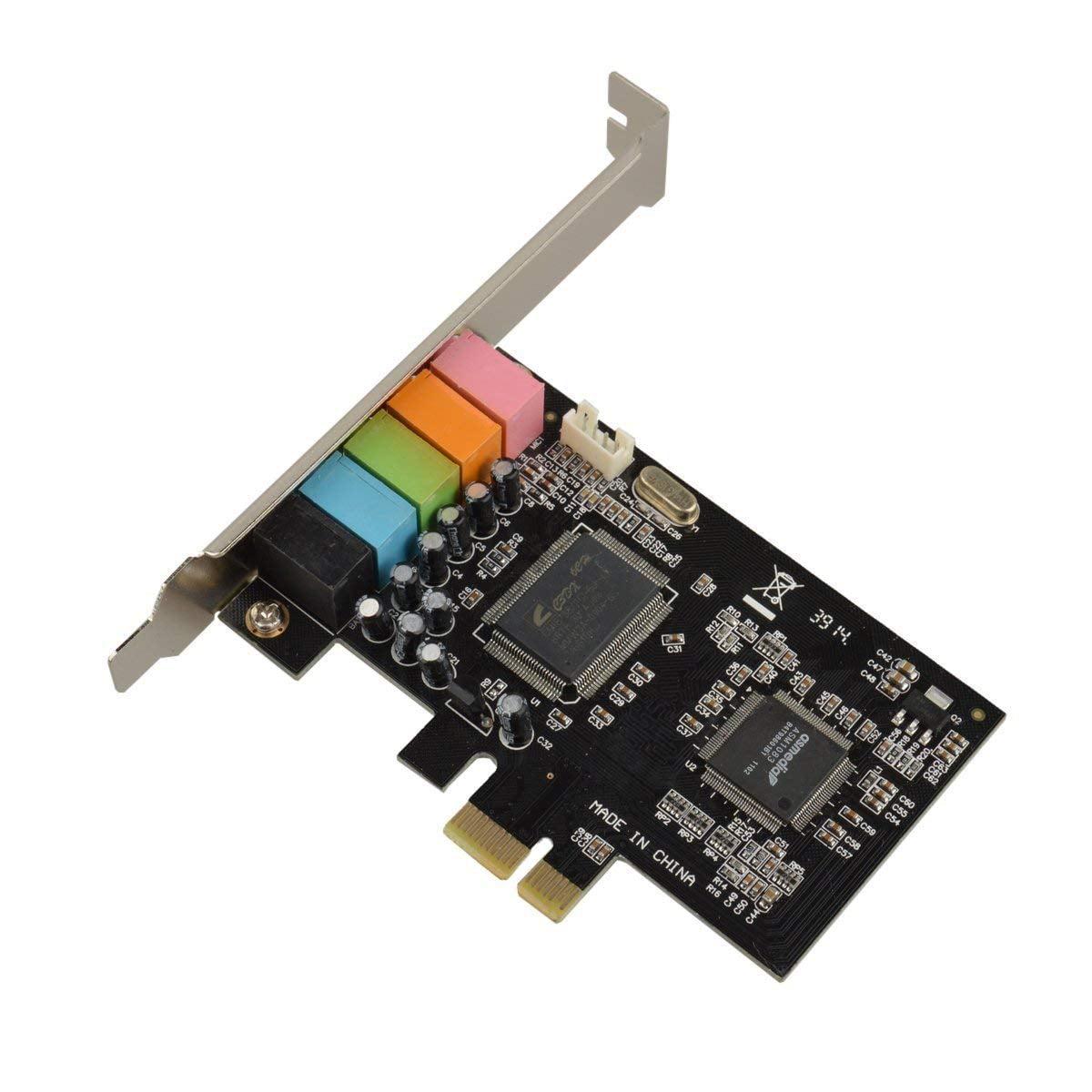 PCI Express 5.1 PC Sound Card 6 Channel Surround 3D Audio CMI8738