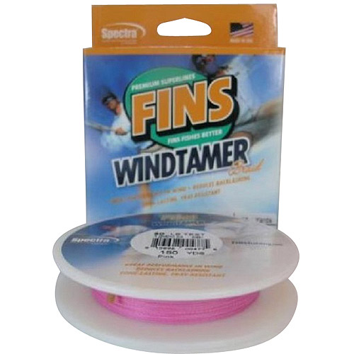 Click here to buy Fins Spectra Fishing Line, Windtamer, Pink by Fins Spectra.