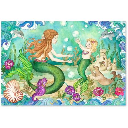 Melissa & Doug Mermaid Playground Floor Puzzle, 48pc