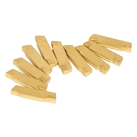 Tool Flo Grooving Inserts - 10pcs/box MGMN200-G 2mm Width Carbide Inserts for MGEHR/MGIVR Lathe Grooving Cut-Off Tool