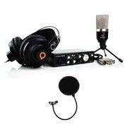 Artesia ARB-4 Laptop Studio Recording Bundle + A22XT Audio Box + AMC-10 Microphone + AMH-11 Headphones + Pop Filter