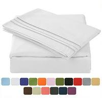 4-Piece TasteLife 105 GSM Deep Pocket Bed Sheet Set (White,Queen)