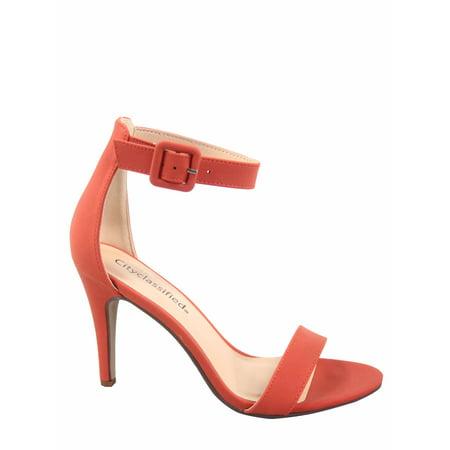 Juicy-s Open Toe Ankle Strap Buckle High Heel Dress Sandals Shoes