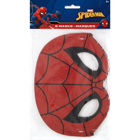 (3 Pack) Spiderman Party Masks, 8-Count - Shark Birthday Supplies