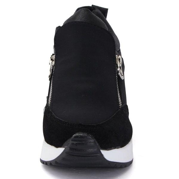 Women/'s New Sneakers Zip Wedge Hidden Heel Running Trainers Athletic Sport Shoes