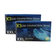 Ammex X3D49100 2 Pack Xtreme Blue Nitrile Glove Latex Free Powder Free XX-Large