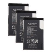 Replacement Battery for Nokia BL-5J (3 Pack)