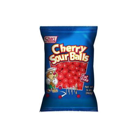 Shari Cherry Sour Balls, 3 Oz, 12 Ct