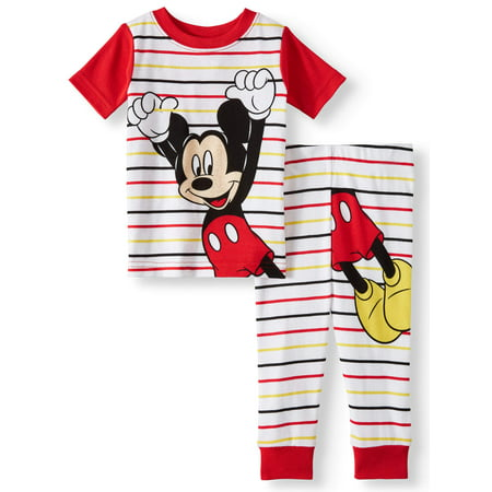 Mickey Mouse Cotton tight fit pajamas, 2pc set (baby boys)