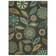 Mainstays Minerva Multicolor Nylon Textured Print Area Rug or Runner, Gray, 5' x 7'