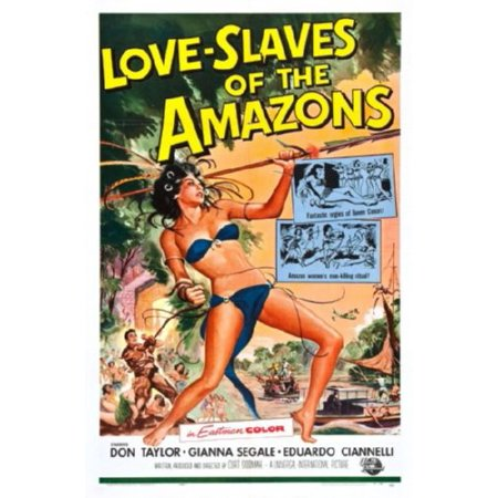 Love Slaves Of The Amazons Movie Poster 24Inx36in  61Cm X 91Cm
