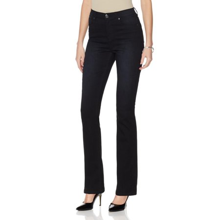 DG2 by DIANE GILMAN SuperStretch Lite Boot-Cut Womens Jeans BLACK 4T