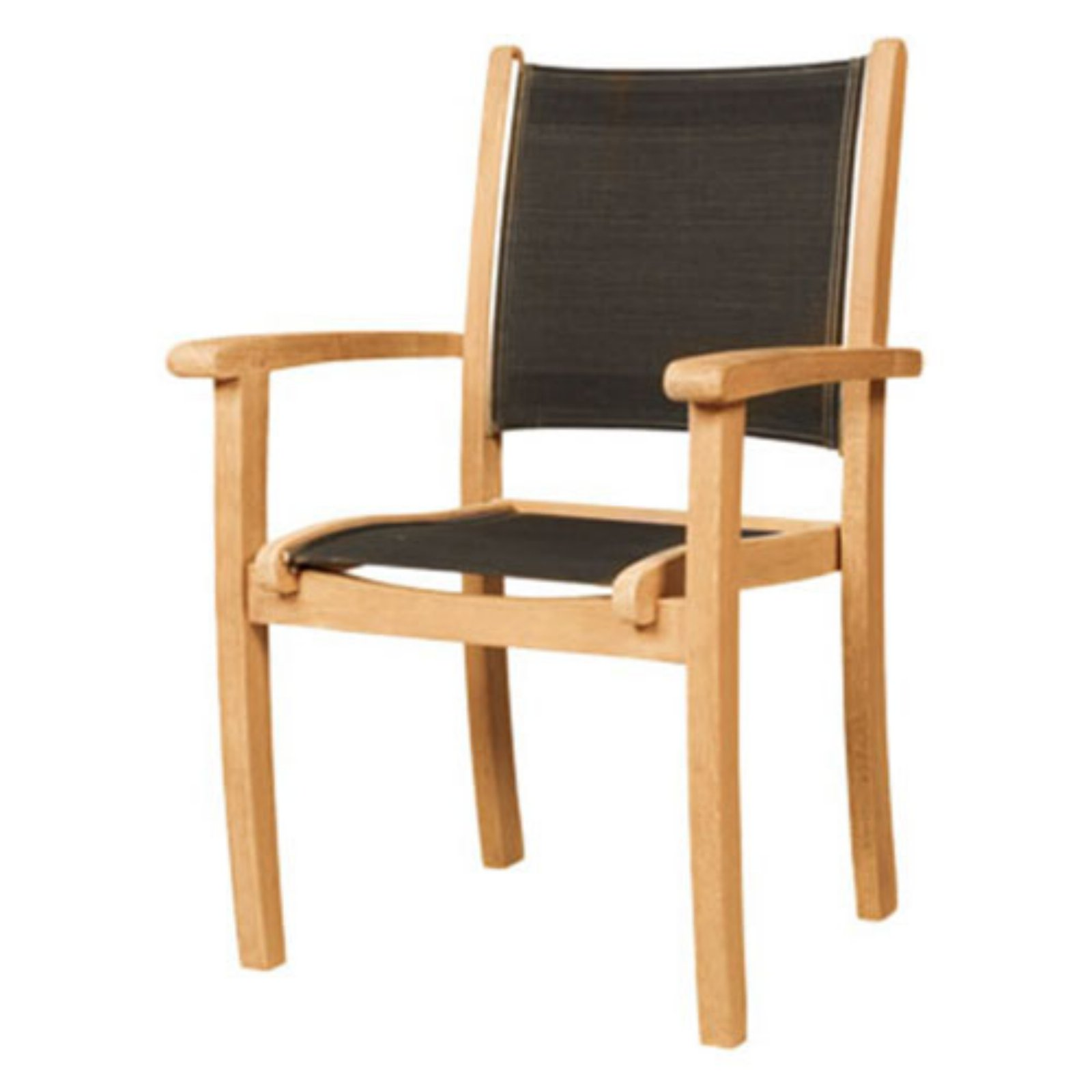 HiTeak Furniture Black Pearl Stacking Chair - Set of 4