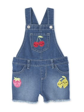 The Children's Place Baby & Toddler Girl Fruit Embellished Denim Shortall