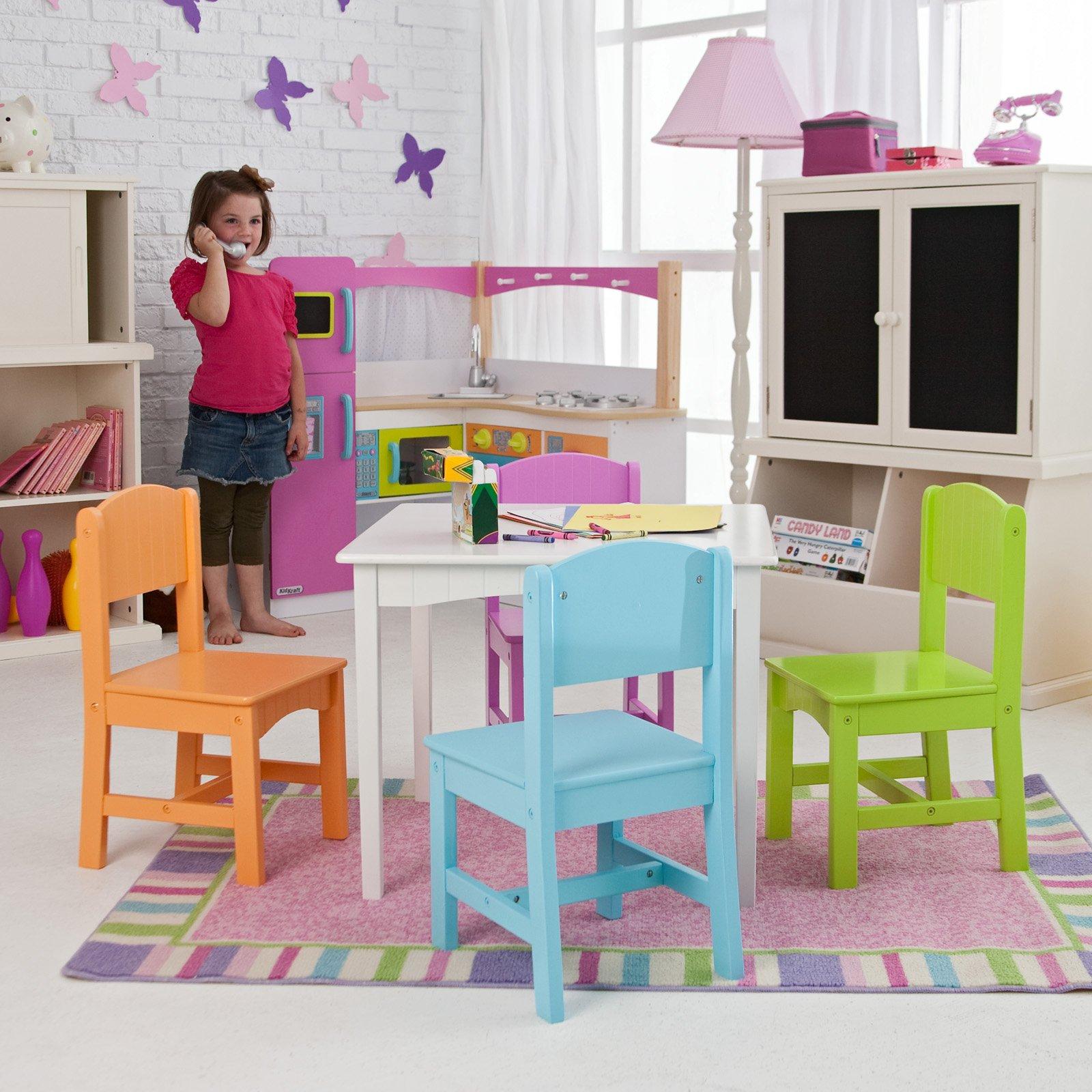 KidKraft Nantucket Big N Bright Table And Chair Set   26124   Walmart.com