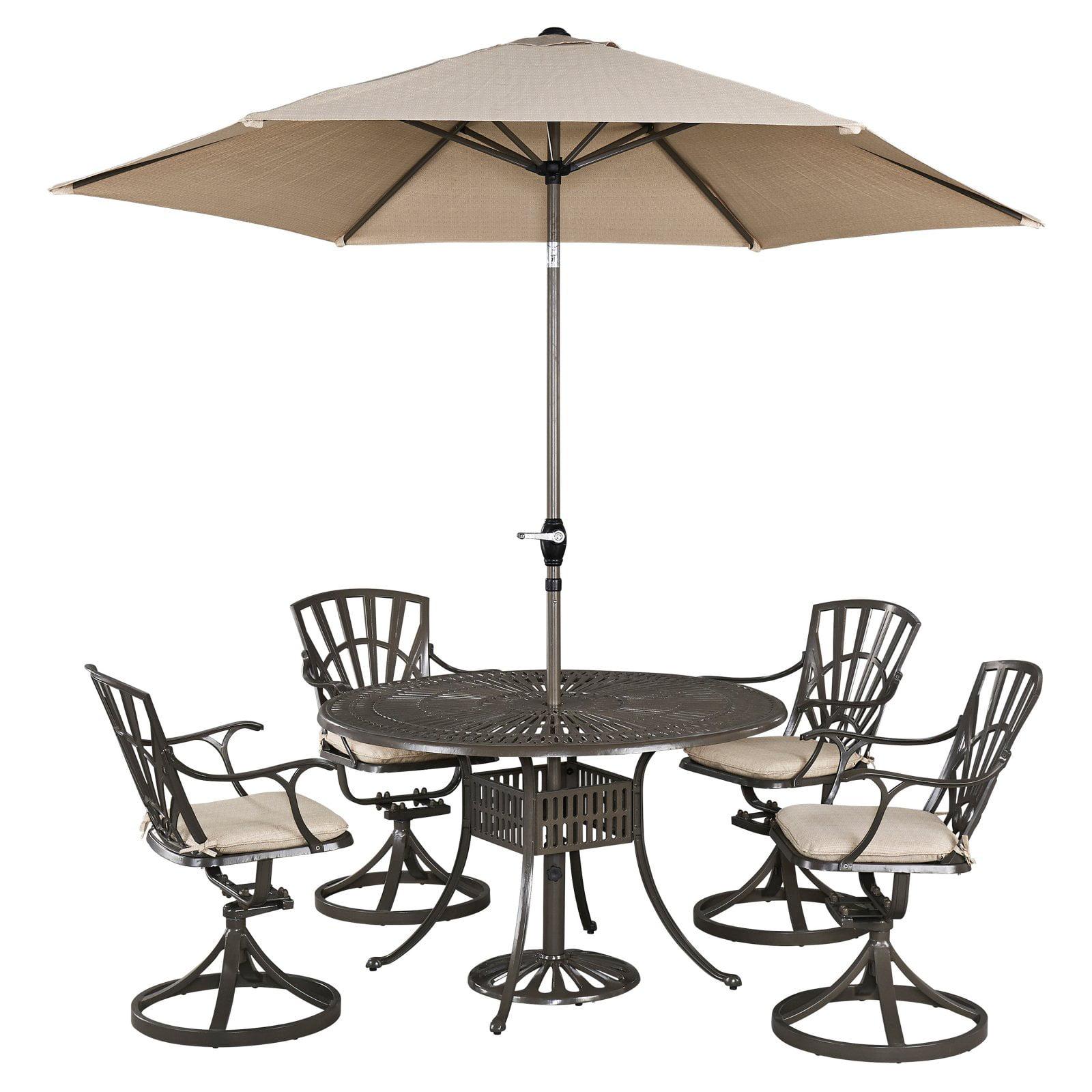 Largo 5PC Dining Set w/ Umbrella and Cushions
