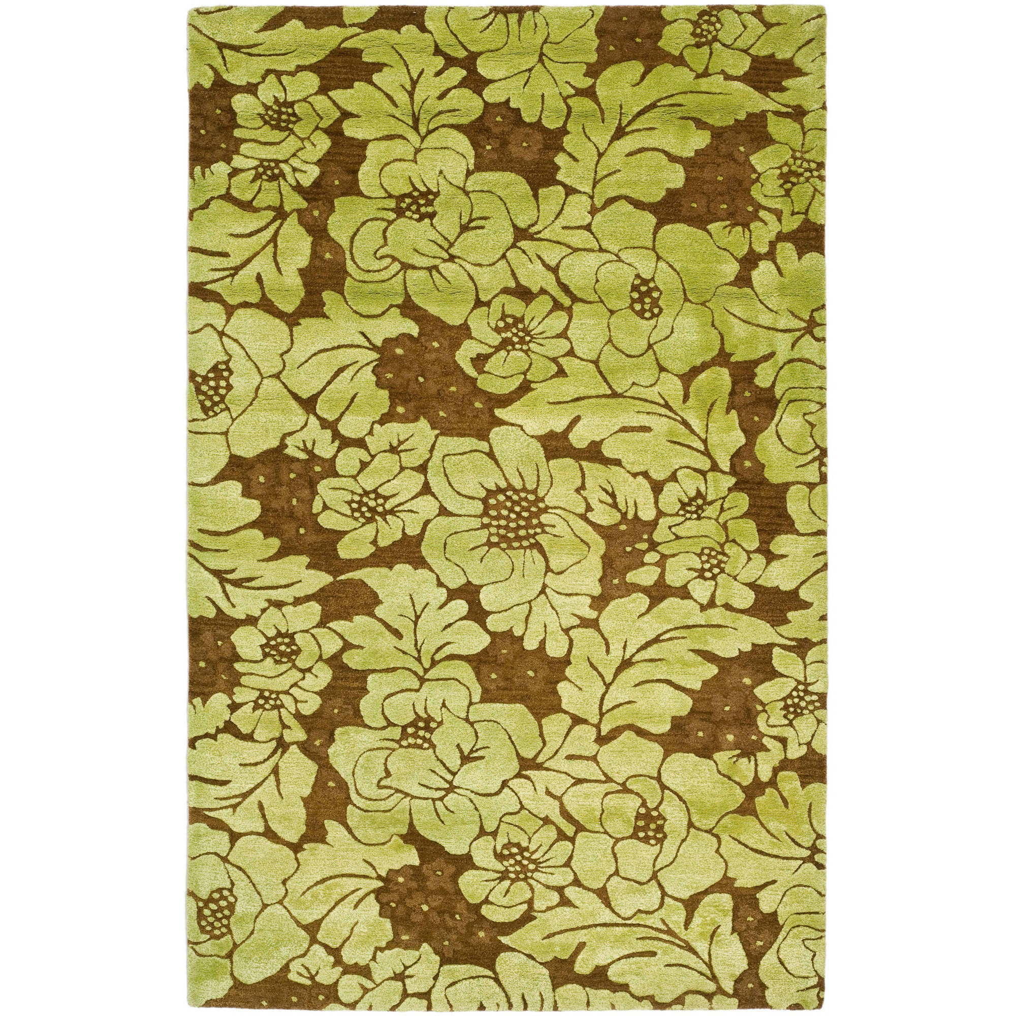 Safavieh Soho Dagan Wool Rug, Lime/Brown, 3.5' x 5.5'
