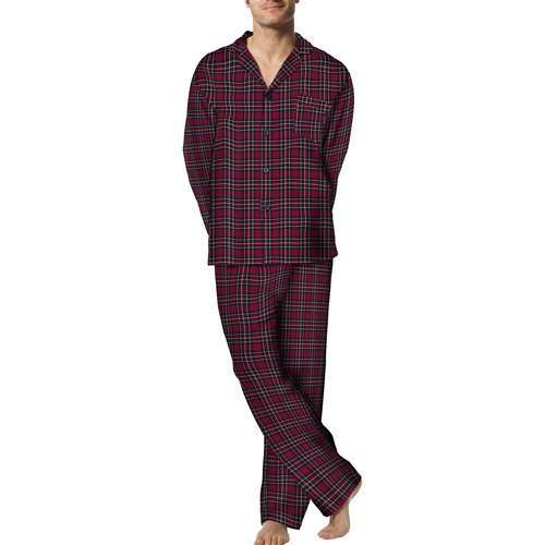 Hanes - Men's Flannel Pajama Set - Walmart.com