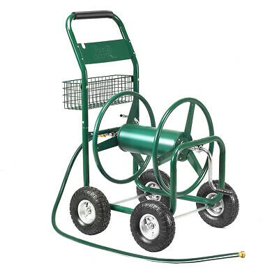 Garden Water Hose Reel Cart Holds 350ft of 5/8