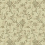 """Waverly Inspirations Cotton Duck 54"""" PAISLEY BROWN Fabric, per Yard"""