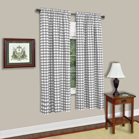 Buffalo Check Gingham Single Window Panel - 42