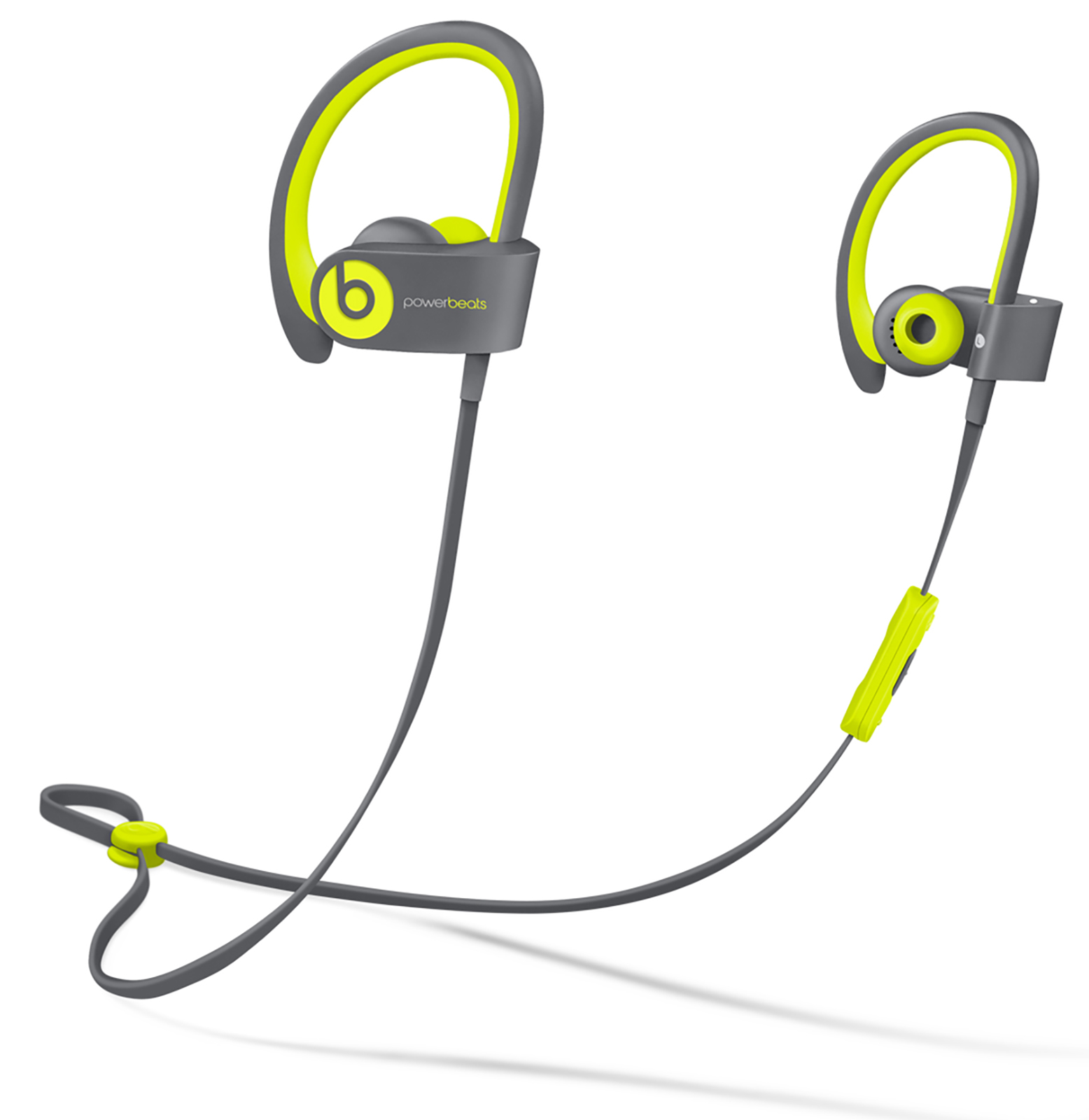 Beats by Dr. Dre Powerbeats2 Active/Sport Wireless In-Ear Sweat & Water Resistant Headphones - Shock Yellow (Refurbished)