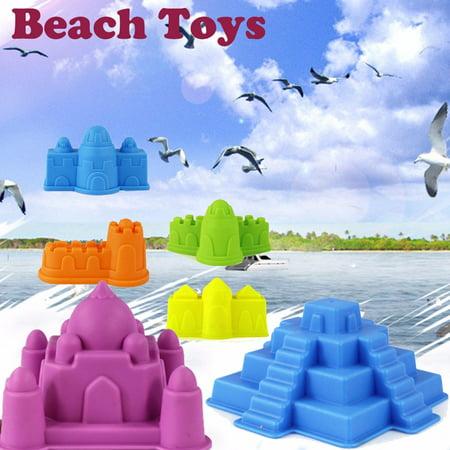 6Pcs Sand Sandbeach Castle Model Kids Beach Castle Water Tools Toys Sand Game 2019 hot sales - Beach Toys And Games