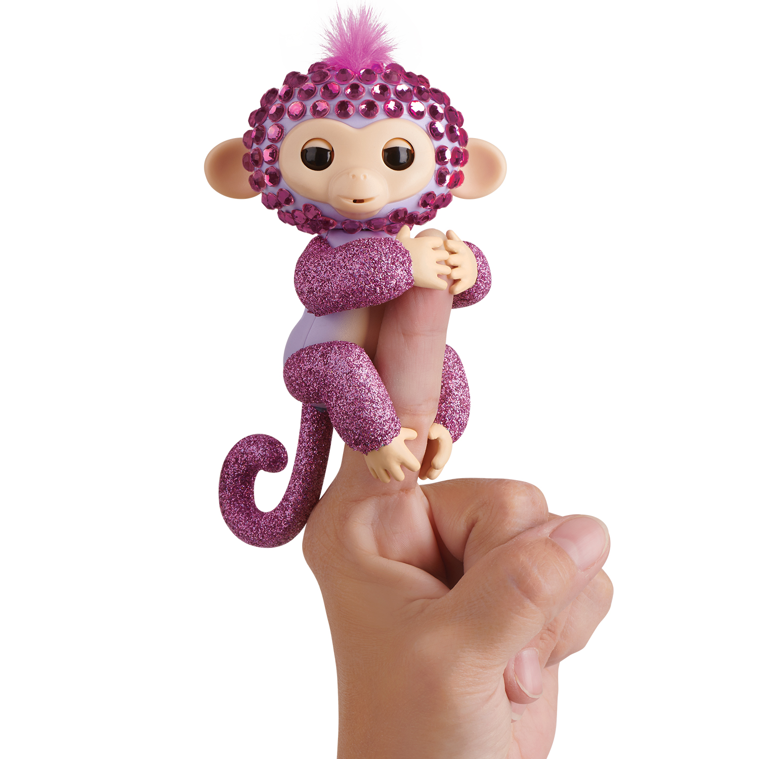 Fingerlings Monkeys - Fingerblings - Glitz (Purple/Pink) - By WowWee