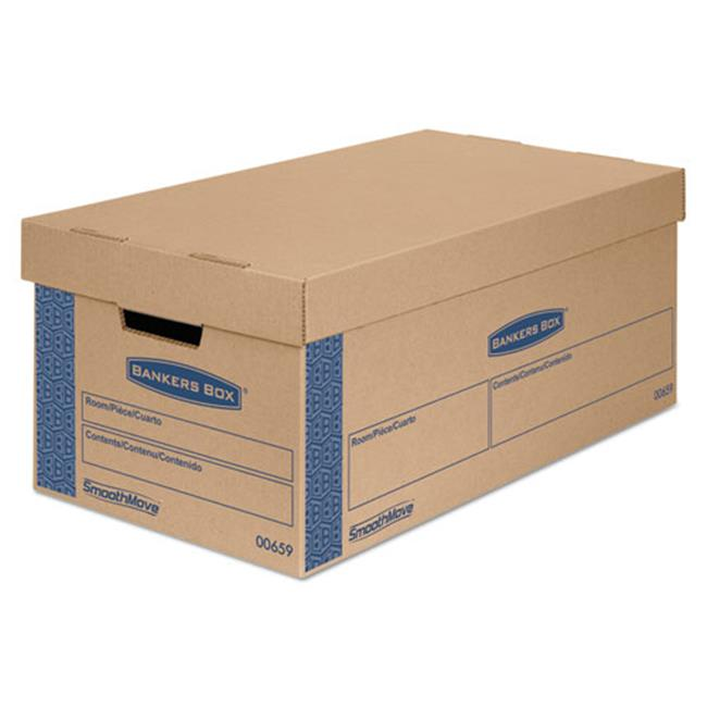 Fellowes Manufacturing 0065901 Smoothmove Prime Moving Boxes With Lift Off Lid, 24 x 12 x 10 in.