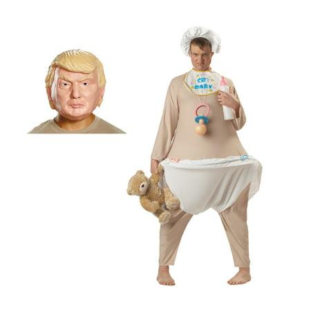 President Donald J. Trump Cry Baby Adult Costume Bundle - Standard