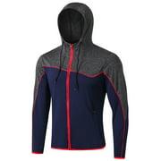 CVLIFE Men Zip Up Jackets Hooded Active Wear Jackets Boys Winter Warm Coat Outwear Sports Jackets Running Jogging Workout Soft Lightweight Basic Sweater Casual S-XXL