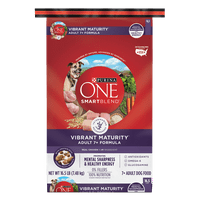 Purina ONE Senior Dry Dog Food; SmartBlend Vibrant Maturity Adult 7+ Formula - 16.5 lb. Bag