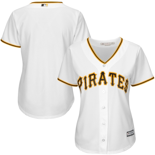 Pittsburgh Pirates Majestic Women's Cool Base Jersey White by MAJESTIC LSG