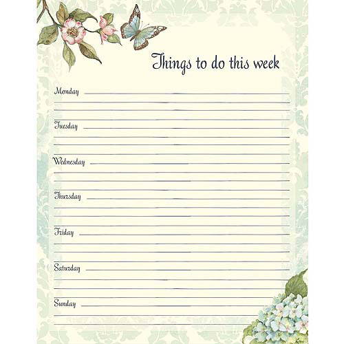 Blue Hydrangea Jumbo Weekly Planner