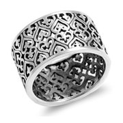 925 Sterling Silver Heart Shaped Ring