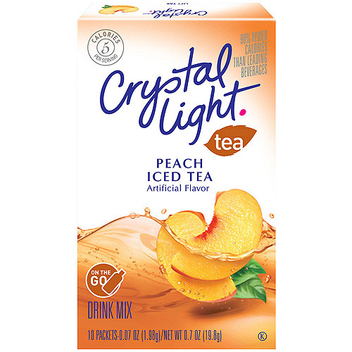 Crystal Light On The Go Iced Tea Peach Drink Mix, 10ct