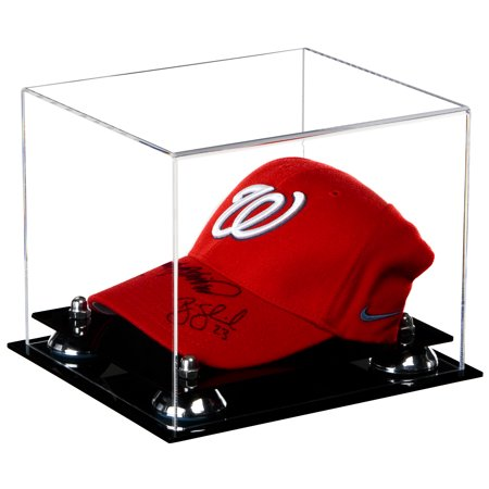 175a7a2b3b7 Deluxe Clear Acrylic Baseball Cap Display Case with Silver Risers (A006-SR)  - Walmart.com