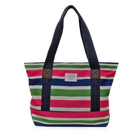 Sloane Ranger Tote Sloanie Stripe Friends Traveling Handbags Gift Srta139 Sr