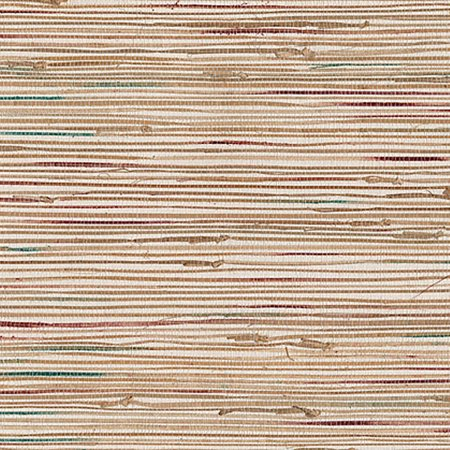 Kenneth James Ken Khaki Grasscloth Wallpaper