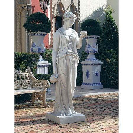 Hebe, the Goddess of Youth Sculpture: Estate -  Design Toscano, 0084609200123