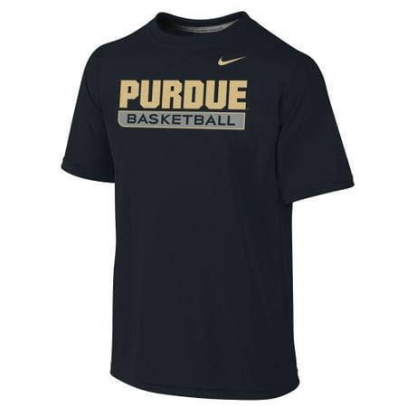 Nike Basketball Practice Tee (Purdue Boilermakers Nike Youth Basketball Legend Practice Performance T-Shirt - Black)